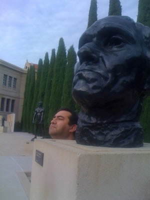 Jesse revisiting Stanford University (Rodin Sculpture Garden)