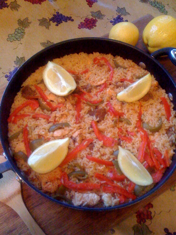 Spanish meat paella - photo by Jesse Luna