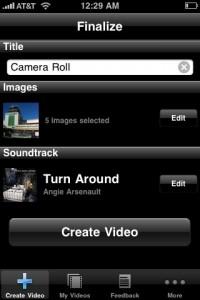 Animoto iPhone App