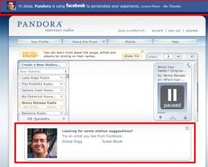 Facebook Personalization on Pandora