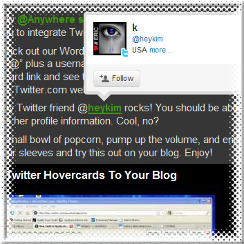 Add Twitter hovercards to your blog