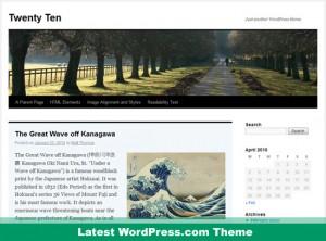 WordPress.com - Twenty Ten Theme