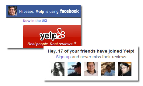 Yelp Personalization with Facebook