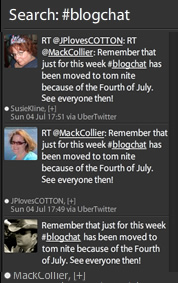 #Blogchat Search Column in TweetDeck