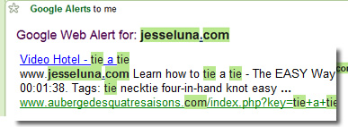 Google Alert for jesseluna.com- How To Tie A Tie
