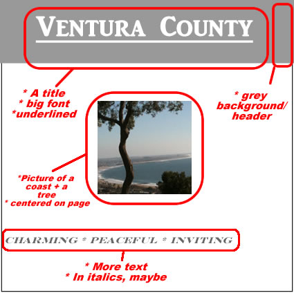 Ventura County page - marked up