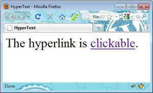 Page with Hyperlink