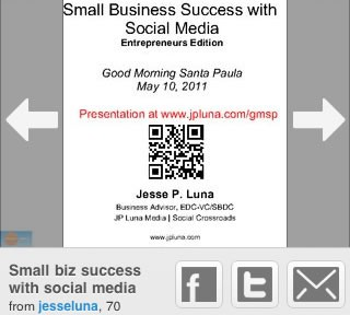 Slideshare on an iPhone
