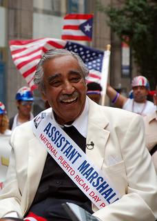 Congressman Charles Rangel at a Puerto Rican Day Parade