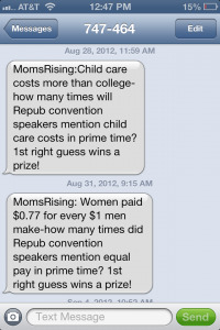 Moms Rising texts