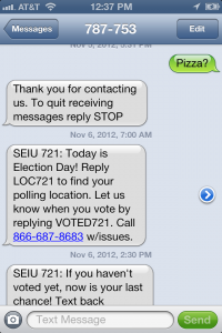 SEIU 721 texting