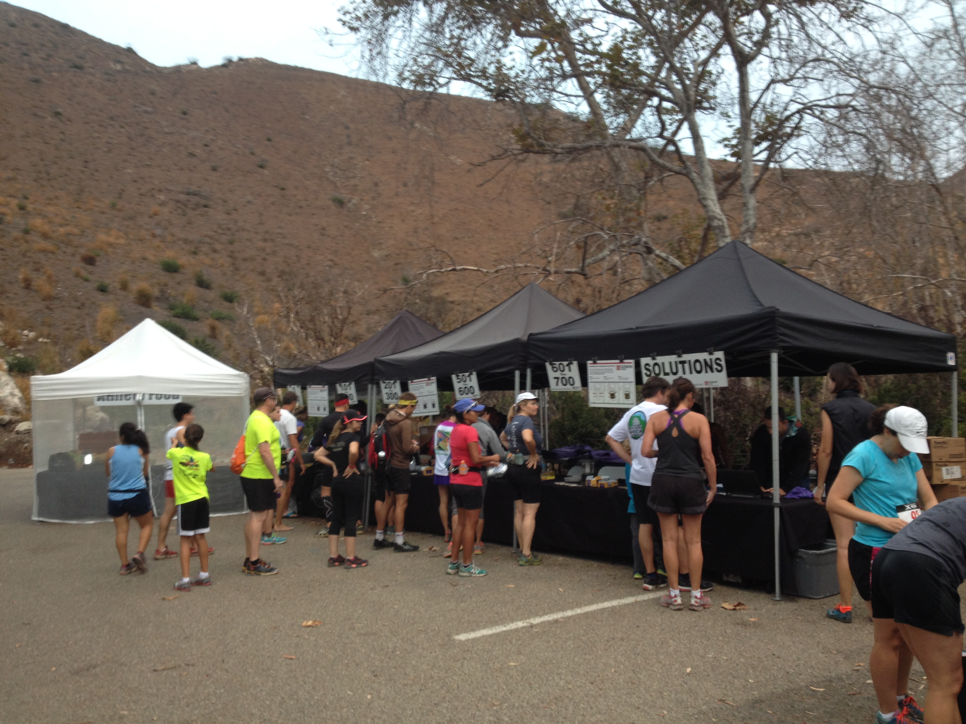 Checkin line at XTERRA Point Mugu Trail Race 2014