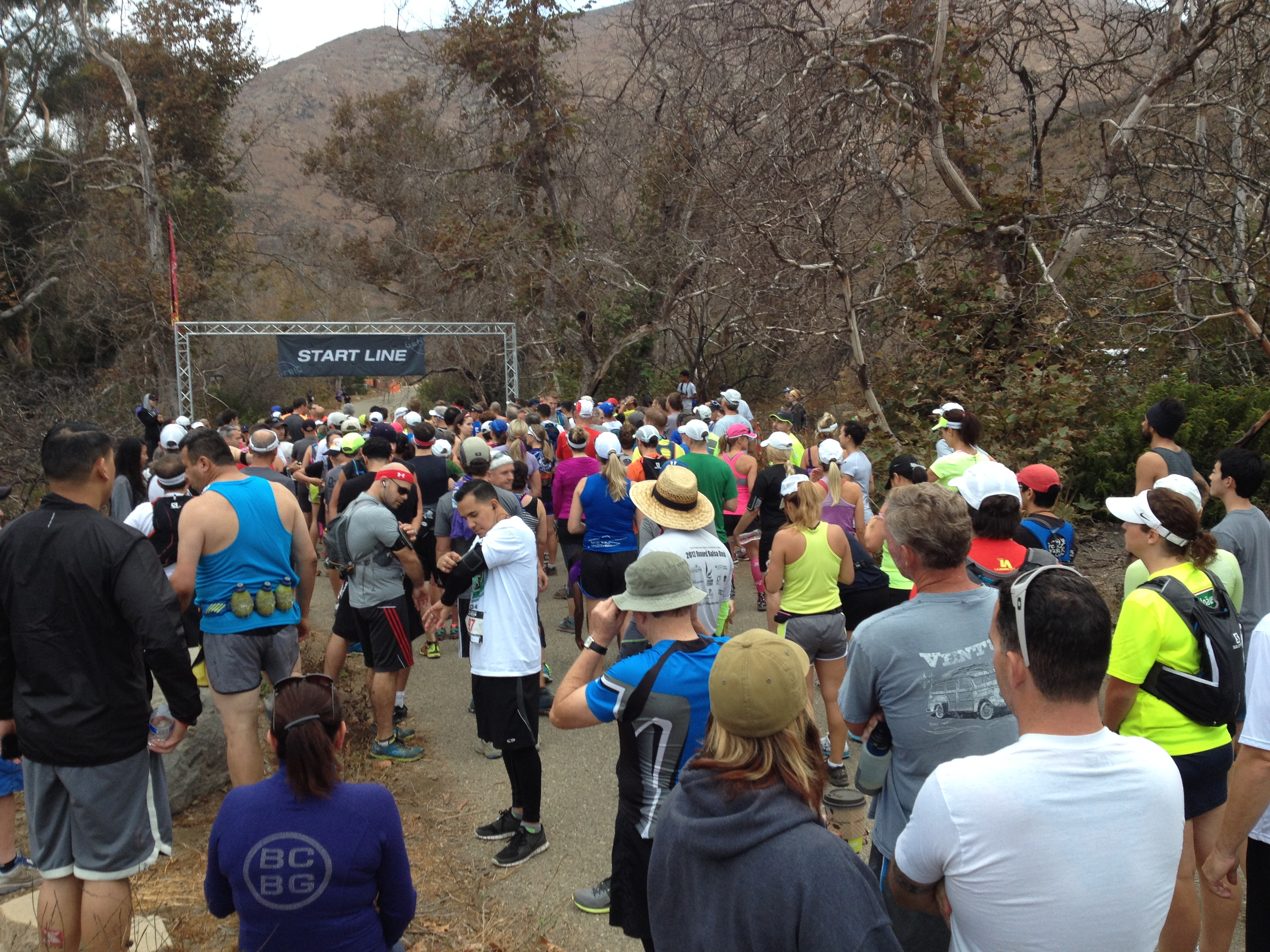 starting line XTERRA Point Mugu Trail Race 2014