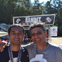 Marcos Vargas and Canek Pena-Vargas at the Bandit Ultra Trail Race