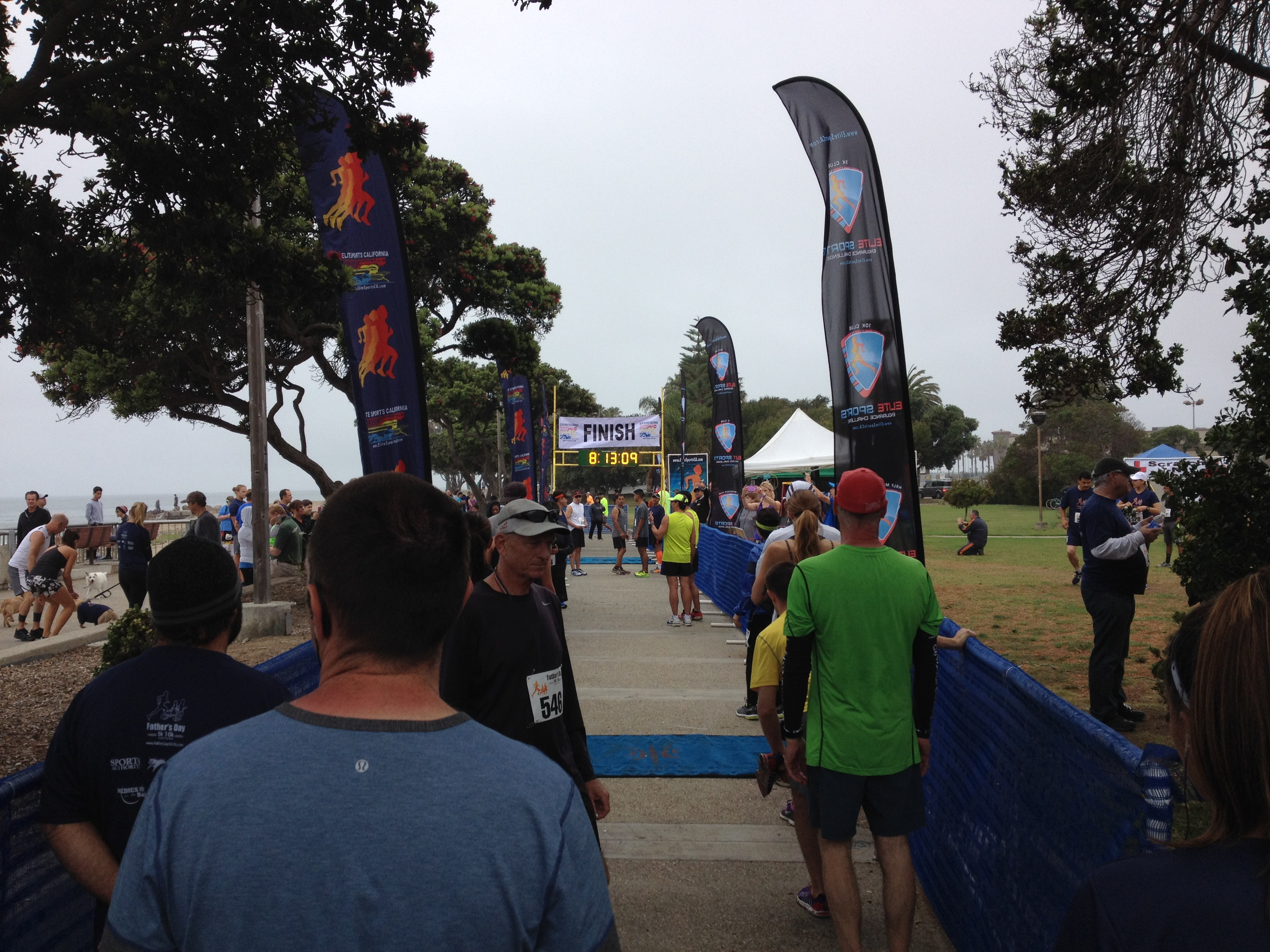 Lining up for the start of the 10k race