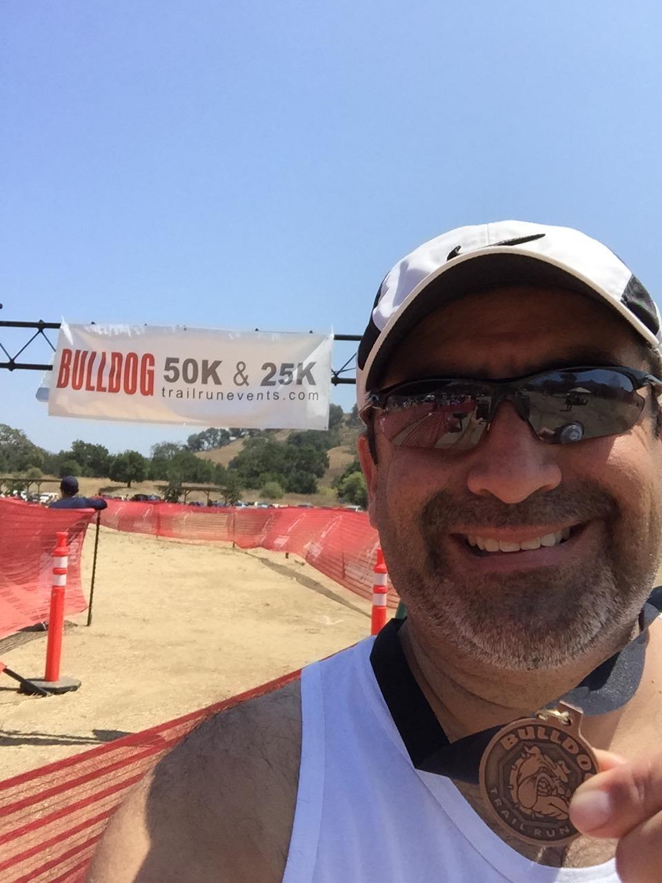 Jesse Luna finish at Bulldog 25k/50k