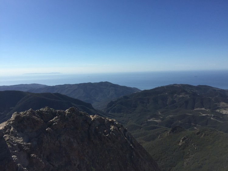 View from the top of Sandstone Peak.