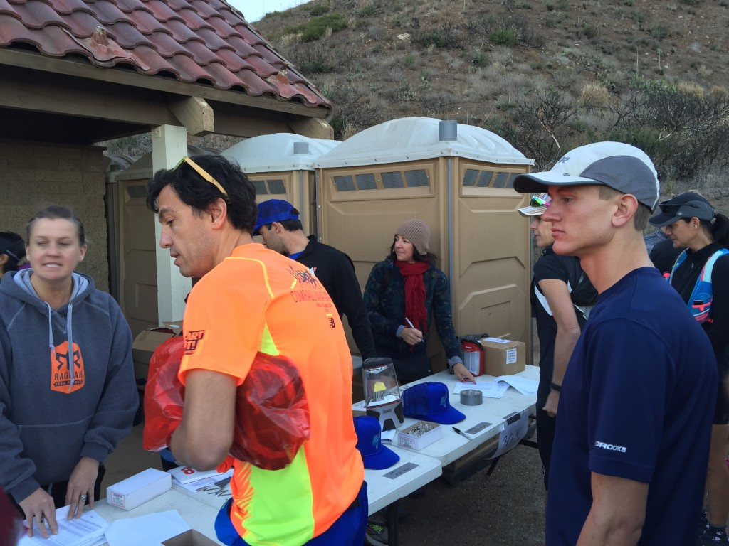 One of my trail running heroes Sally McRae was volunteering at the checkin desk.