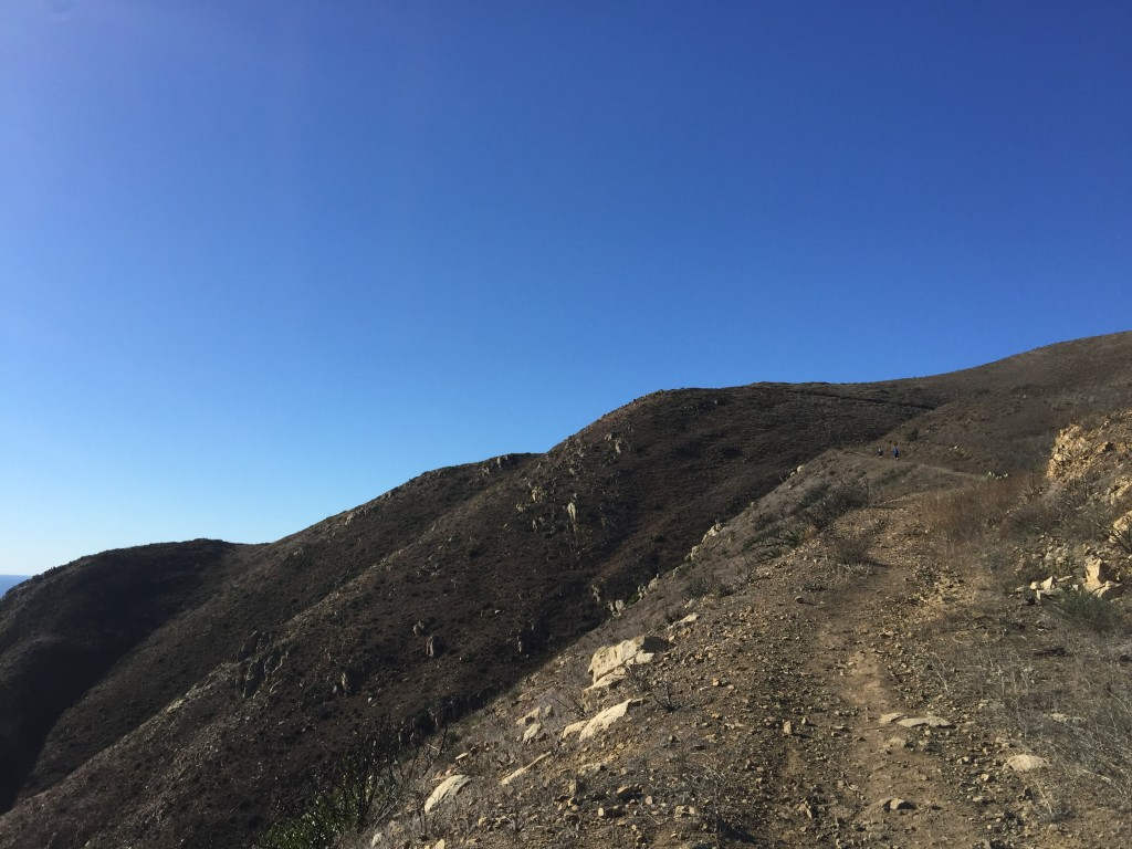 Mugu Peak Trail. You can see two racers up ahead on the trail.