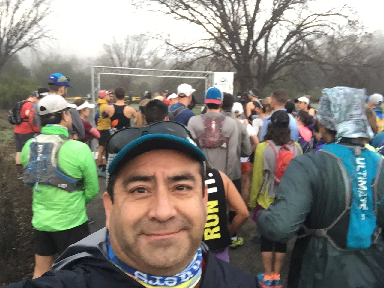 At the Sean O'Brien Marathon/50k starting line - 2017