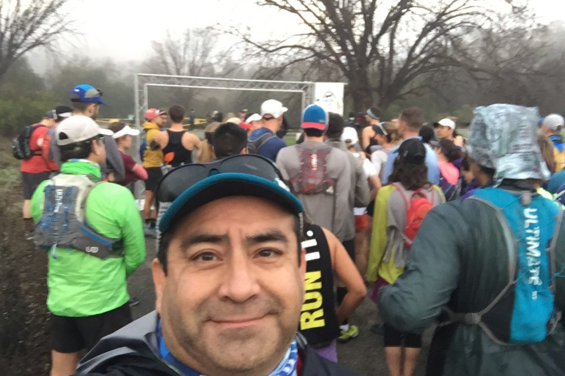 At the Sean O'Brien Marathon/50k starting line - 2017