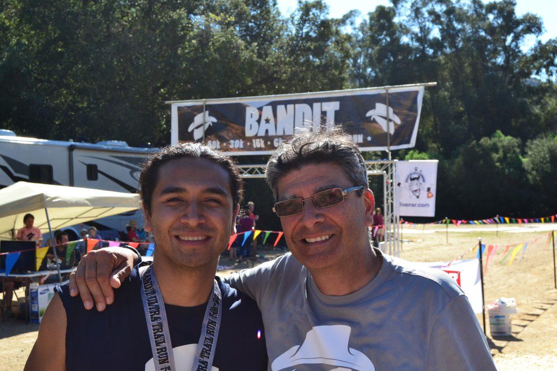 Marcos Vargas and Canek Pena-Vargas at the Bandit Ultra Trail Race